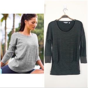 •ATHLETA• Batwing Robin Kangaroo Pocket Sweatshirt